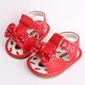 Lindo floral bow baby girls shoes primer caminante del bebé sandalias antideslizante infant toddler shoes suela de goma verano cómodo shoes