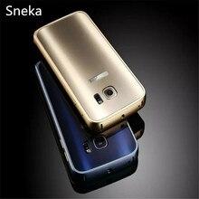 СПС Galaxy S7/S7 край алюминиевый корпус металлический каркас + блики задняя крышка СПС Samsung Galaxy S7/S7 мобильного телефона случаях