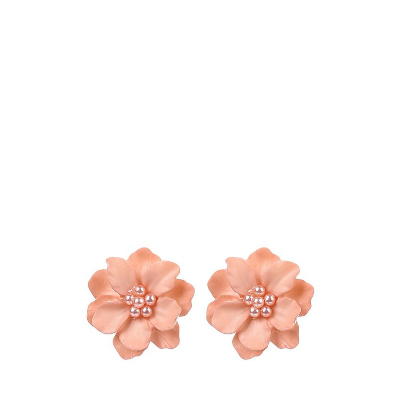 Jewelry & Accessories>>Fashion Jewelry>>Earrings>>Stud Earrings MODIS M181A00661 alloy engraved flower ball earrings