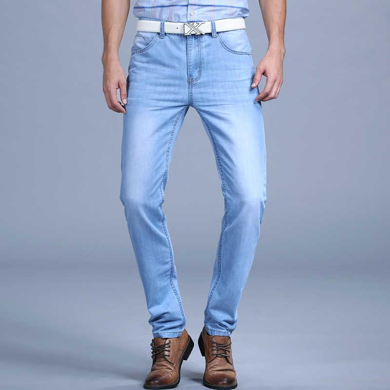 6a50d45797f ... Большая Распродажа Весна Лето Джинсы Utr тонкие бесплатная доставка 2018  мужские модные джинсы мужские брюки одежда ...