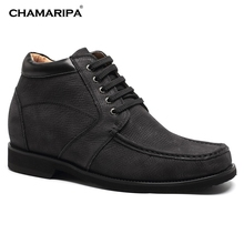 CHAMARIPA Increase Height 9cm/3.54 inch Taller Elevator Shoes Mens Height Increasing Boots Desert Boot
