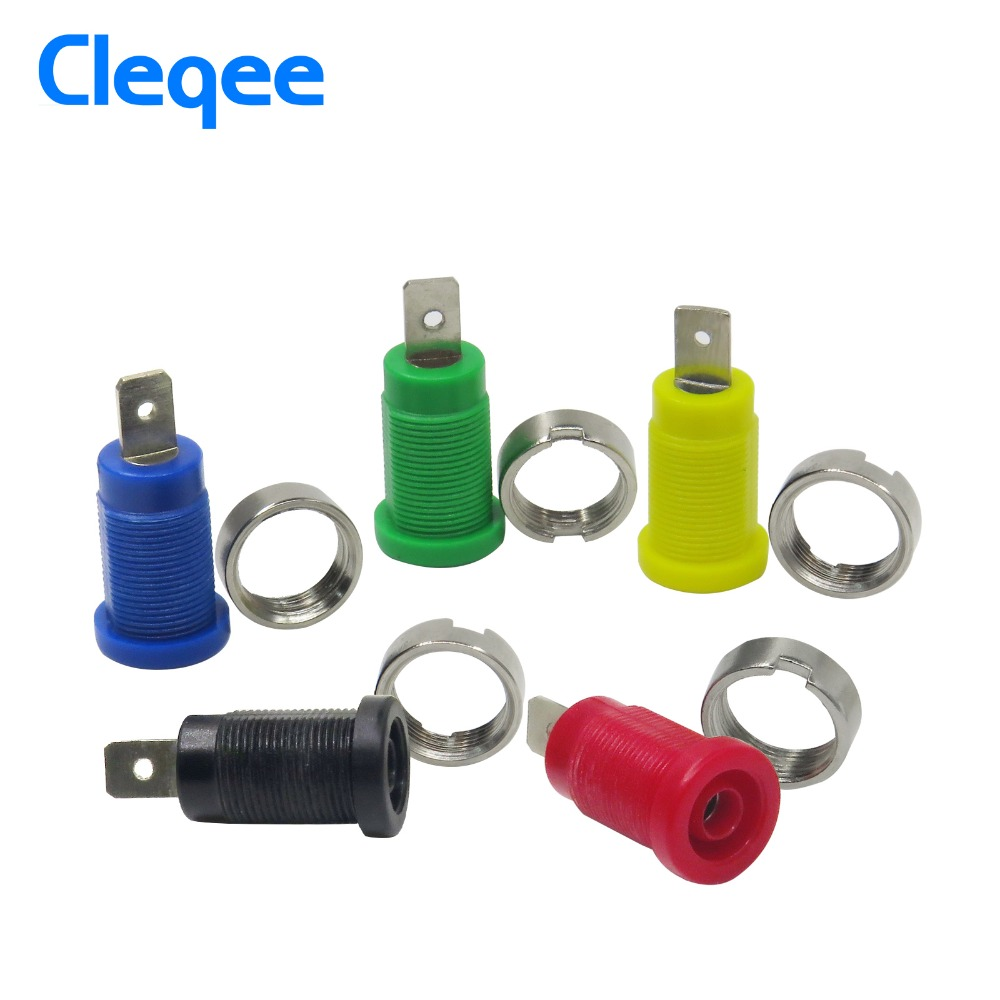 Cleqee P3007 10pcs / set 5 Color 4mm Niquelado Enchufe Post Banana - Instrumentos de medición - foto 2