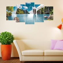 Beauty island oil paint pictures Decorative canvas painting Living Room Wall Painting Without Frame(China)
