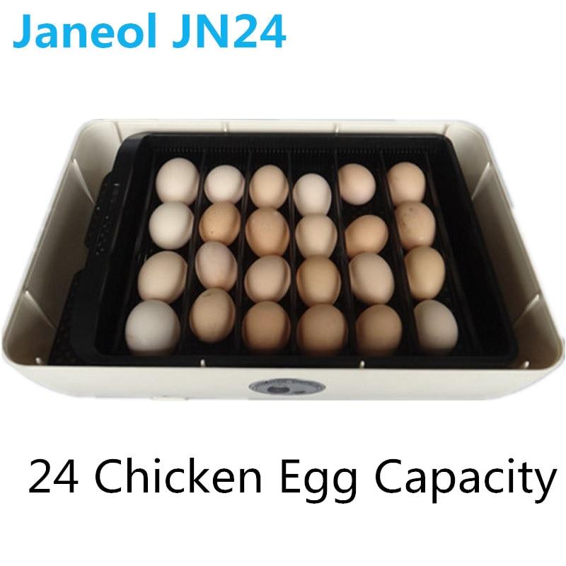 24 цифровой ясный инкубатор с поворотом яиц, точный контроль температуры для утиных птиц, инкубация куриных яиц + фонарик в подарок - 4