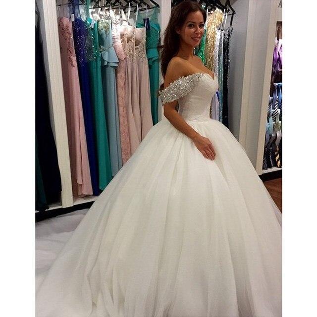 Beautiful Wedding Dress Lace Customized Elegant Long Train Ball Gown