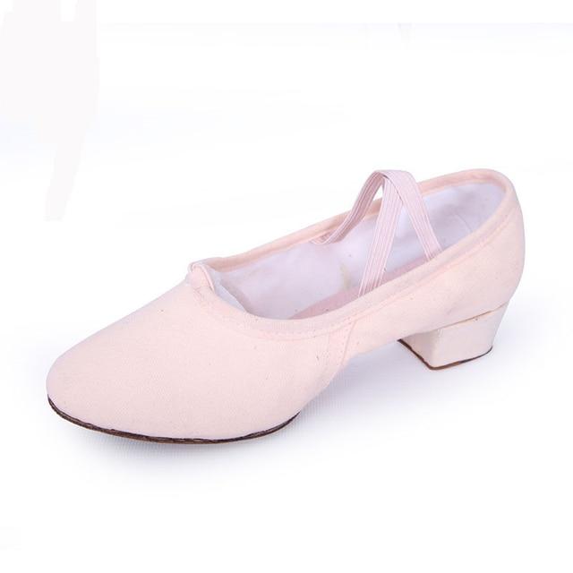 Delle Ragazze Delle donne Sala Da Ballo 3.5 cm Tela di canapa di Balletto  Scarpe 9140b1242e8