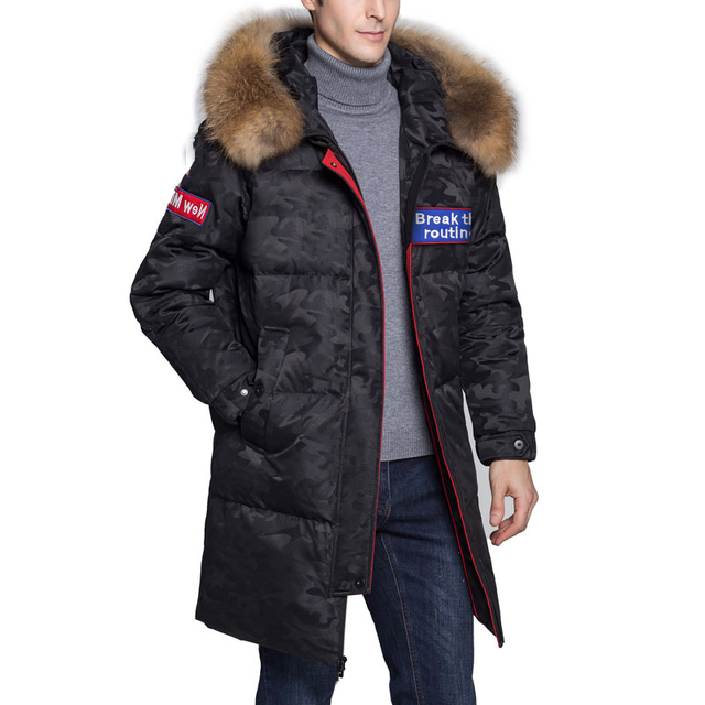 a641807cdb8e New Winter Extremely Cold Long Down Jacket Thick Warm Hooded Coat ...