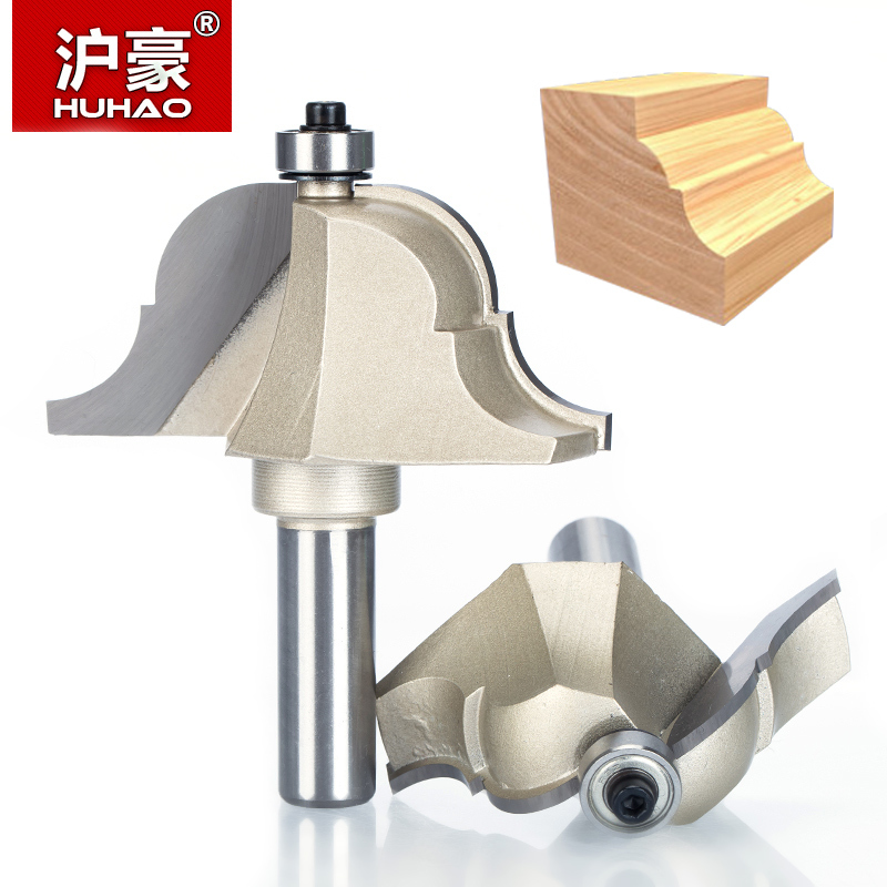 HUHAO 1pcs 1/2 Shank Router Bits for wood Roman Ogee Router Bit Double Edging Woodworking Tools endmill classical bit cutter high grade carbide alloy 1 2 shank 2 1 4 dia bottom cleaning router bit woodworking milling cutter for mdf wood 55mm mayitr