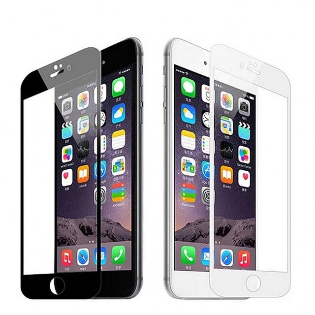 Protector de pantalla de vidrio templado curvado 3D para Iphone X 5S SE 6 6 S 7 8 Plus película protectora templada De Vidro