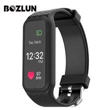 Bozlun Bluetooth Smart Band динамического сердечного ритма Мониторы полноцветный TFT-LCD Экран smartband для IOS Android-смартфон l38i