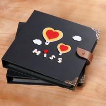 3 Size Paste Type Handmade Photo Album DIY Photo Album Baby Lovers Couple Felt-Dimensional Adhesive-type Albums