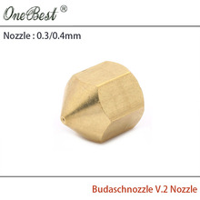 Free shipping 3D printer accessories Budaschnozzle V.2 Nozzle 0.4mm/0.3mm Factory Outlet high quality 100% New