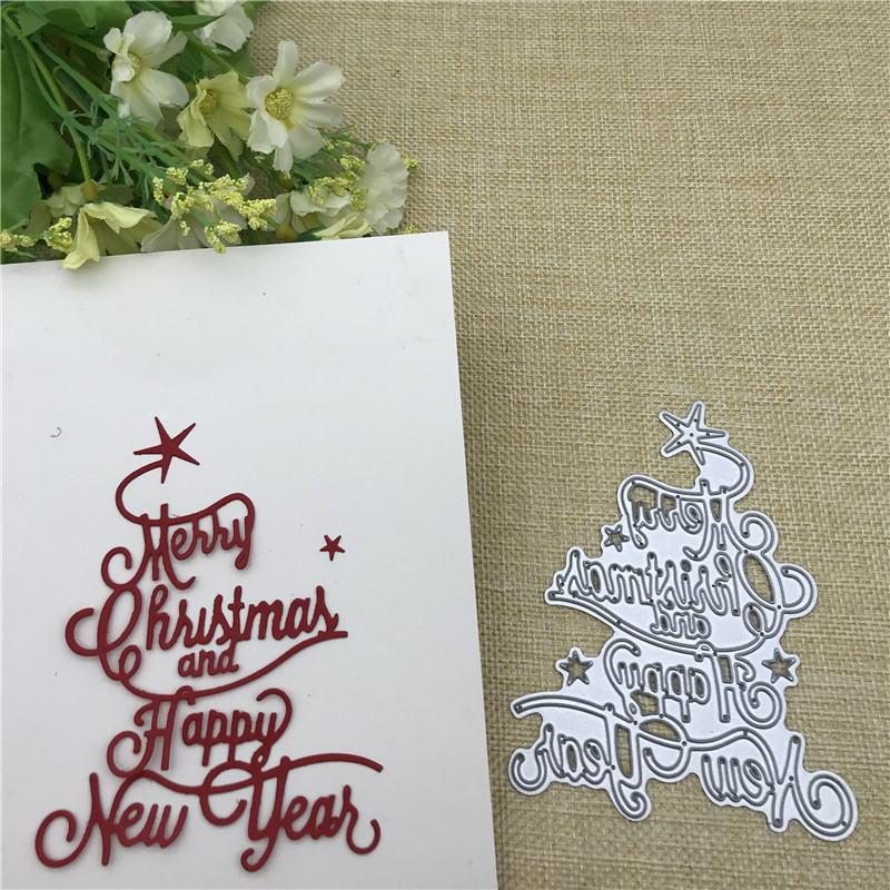 AOKEDIY Merry Christma HAPPY NEW YEAR Scrapbooking
