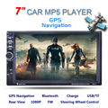 7 inch 2 Din HD Автомобильный Радио MP5 Плеер С Цифровой сенсорный Экран Bluetooth USB/TF/FM DVR/Aux Вход Поддержка Handsfree Car Charge GPS