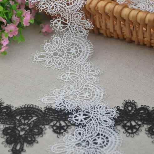 3 Meters 6cm Width high quality embroidered flower pendant black lace trim sewing crafts women child cloth scrapbooking DIY