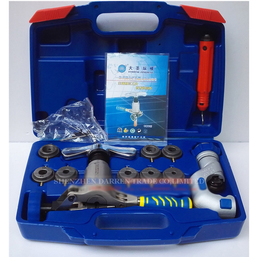 1pc/lot  WK-519FT-L  pipe flaring cutting tool set ,tube expander, Copper tube flaring kit Expanding scope 6-19mm 1set wk 806ft copper tube flaring cutting tool kit pipe flaring tool set cutting knife suit for 5 32mm copper pipe