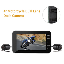 Dual Motorcycle DVR Camera HD WiFi Dash Cam GPS Camera 4 IPS MT003 Front &Rear 1080P+720P Waterproof Sport Camera With G-Sensor цена