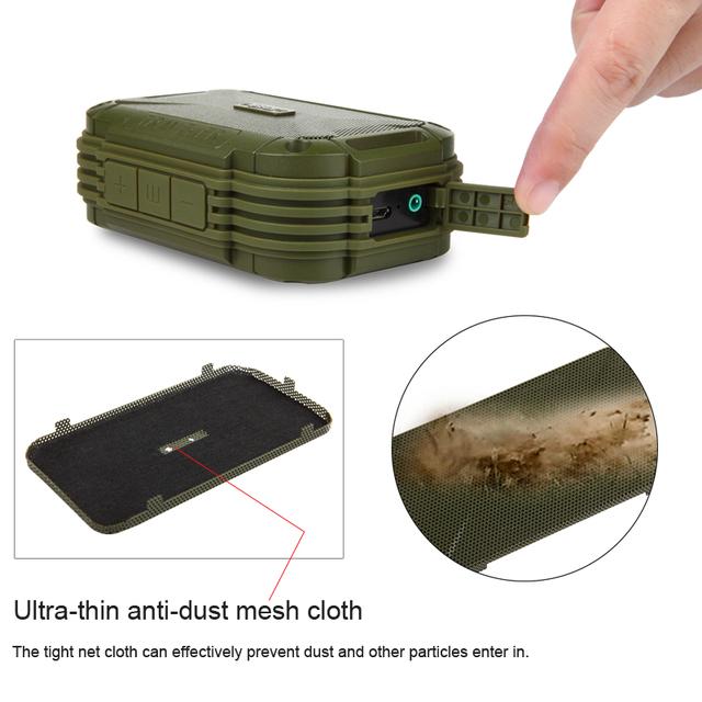 Resistencia a los golpes a prueba de agua altavoz inalámbrico Bluetooth