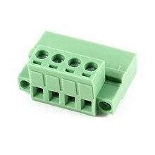 300 в 10А AWG24 12 4pin 5 08 мм расстояние PCB винт зеленый клеммный блок разъем
