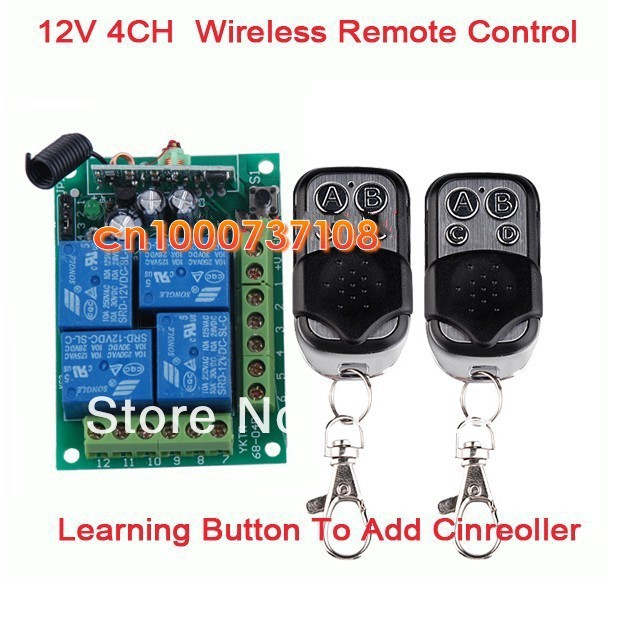 DC12V 10A 4 ch rf wireless lamp led control 433.93mhz radio transmitter smart home receivers for garage door radio switch niorfnio portable 0 6w fm transmitter mp3 broadcast radio transmitter for car meeting tour guide y4409b