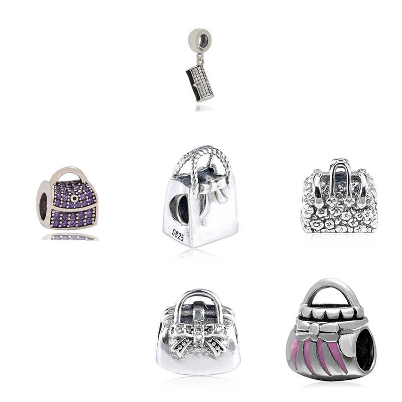 5c597496d Detail Feedback Questions about 925 Sterling Silver Mary Poppins Wallet Handbag  Bag Charm Beads Fit DKG Bracelets & Bangles for Women DIY Gift Jewelry ...