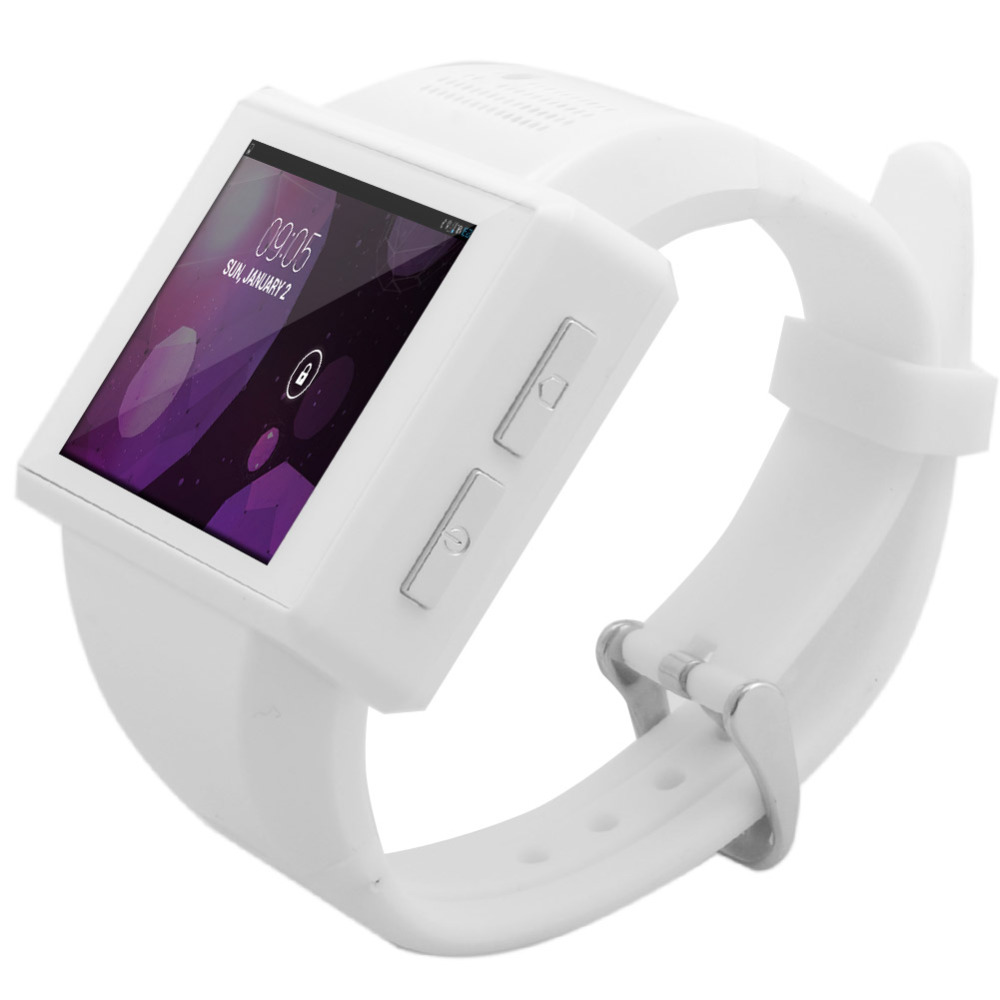 White AN1 Android 4.1 Dual Core 2.0 Inch Touch Screen Smart Watch Cell Phone Watch Mobile Phone 2.0 MP WiFi FM GPS imacwear sparta m7 1 54 inch touch screen 3g smart watch phone ip67
