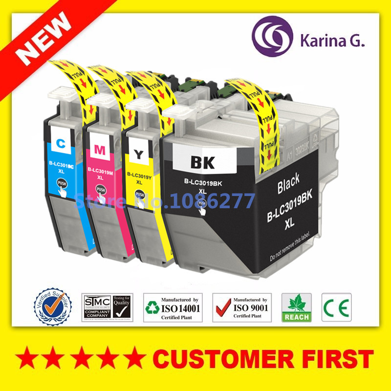 4X New for LC3019 LC3019XL Compatible Ink Cartridge For Brother MFC J5330DW J6530DW J6730DW J6930DW printer
