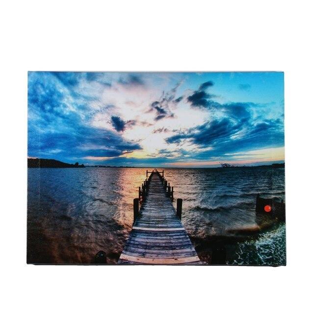 LED Leuchten Sunset Seebrücke Landschaft Leinwand Malerei Wandbild Für  Zuhause Wohnzimmer Hotel Flur Dekoration Kunst Geschenke