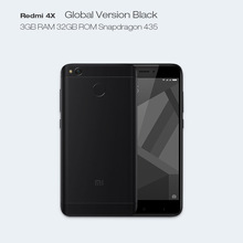 Dreami Global Version Original Xiaomi Redmi 4X 3GB 32GB Snapdragon 435 CE FCC 4100 mAh 5.0 Inch 13MP Camera Cellphone 4 X(Hong Kong)