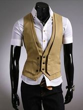 Custom Made Tan Champagne Waistcoats Slim Fit Mens Wedding Prom Dinner Suit Vests chaleco hombre man vest gilet Coletes Newest
