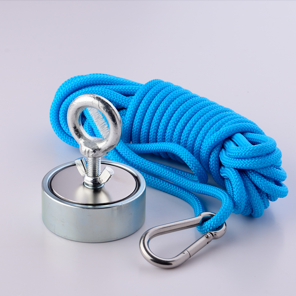 2 Side 200KG Strong Pull-force Fishing Magnet with Rope Searching Recovery Salvage Magnet Magnetic Material Fisherman imane2 Side 200KG Strong Pull-force Fishing Magnet with Rope Searching Recovery Salvage Magnet Magnetic Material Fisherman imane