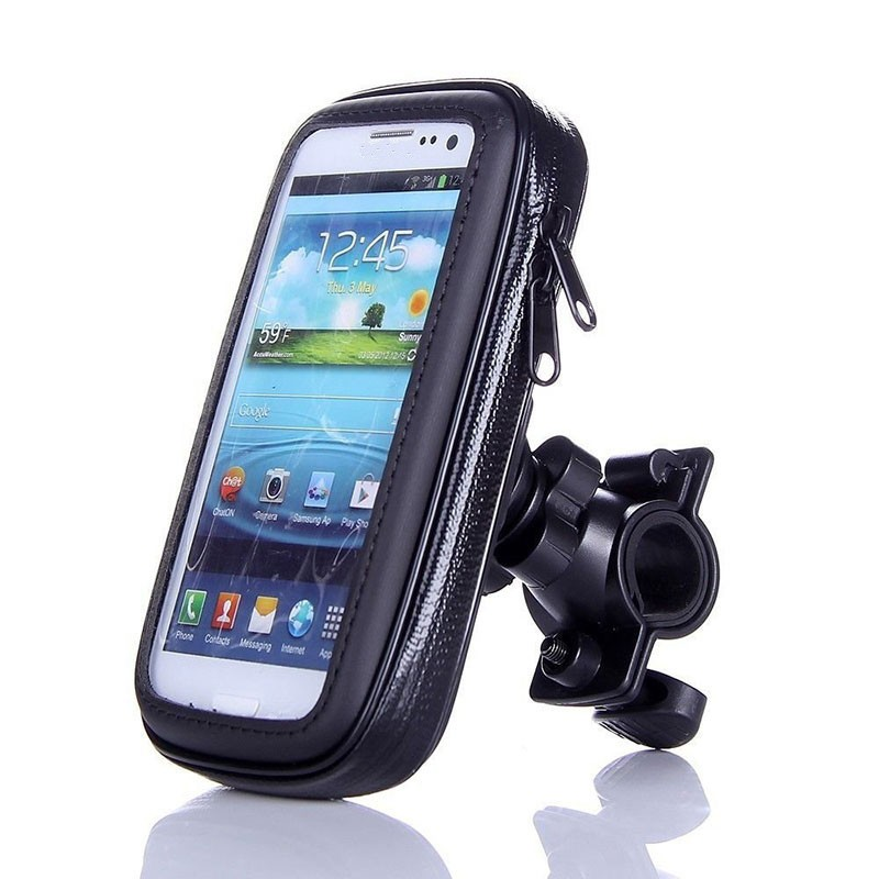 Fahrrad Motorrad Telefon Halter Mobilen Ständer Unterstützung Für iPhone 6 6 s 7 Plus <font><b>GPS</b></font> Bike Halter Wasserdichte Tasche Soporte movil Moto image
