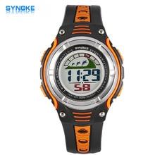 New Arrival SYNOKE Brand LED Digital-watch Children's Outdoor Sports Waterproof Electronic Watch Men Boy Gift Relogio Masculino