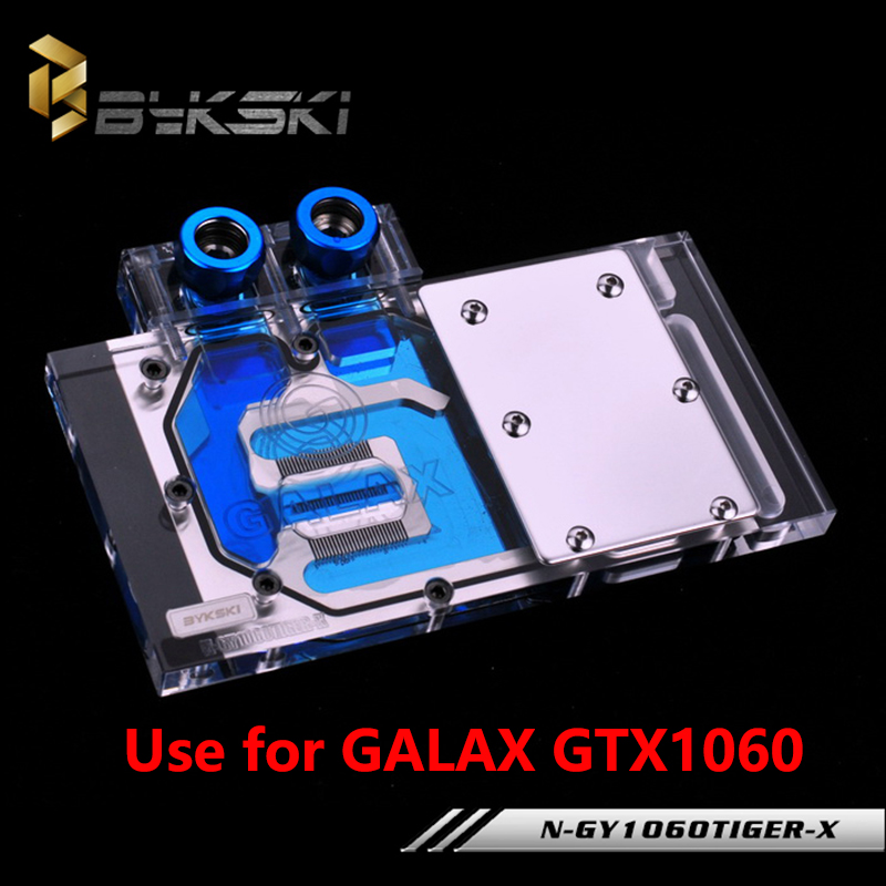 BYKSKI Full Cover Graphics Card Block use for GALAX GTX1060/1060 OC GAINWARD 1060 Video Card Radiator Block RGB N-GY1060TIGER-X 4pin mgt8012yr w20 graphics card fan vga cooler for xfx gts250 gs 250x ydf5 gts260 video card cooling