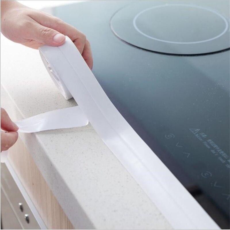 3 6 30 De Reduction Moisissure Bande Etanche Cuisine Poele Coin Mur Etancheite Autocollant Toilette Evier Baignoire Auto Adhesif Joint Protecteur
