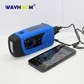 Солнечной Радио FM Ручной Динамо Супер Яркий Фонарик USB Кабель Телефон Зарядное Устройство