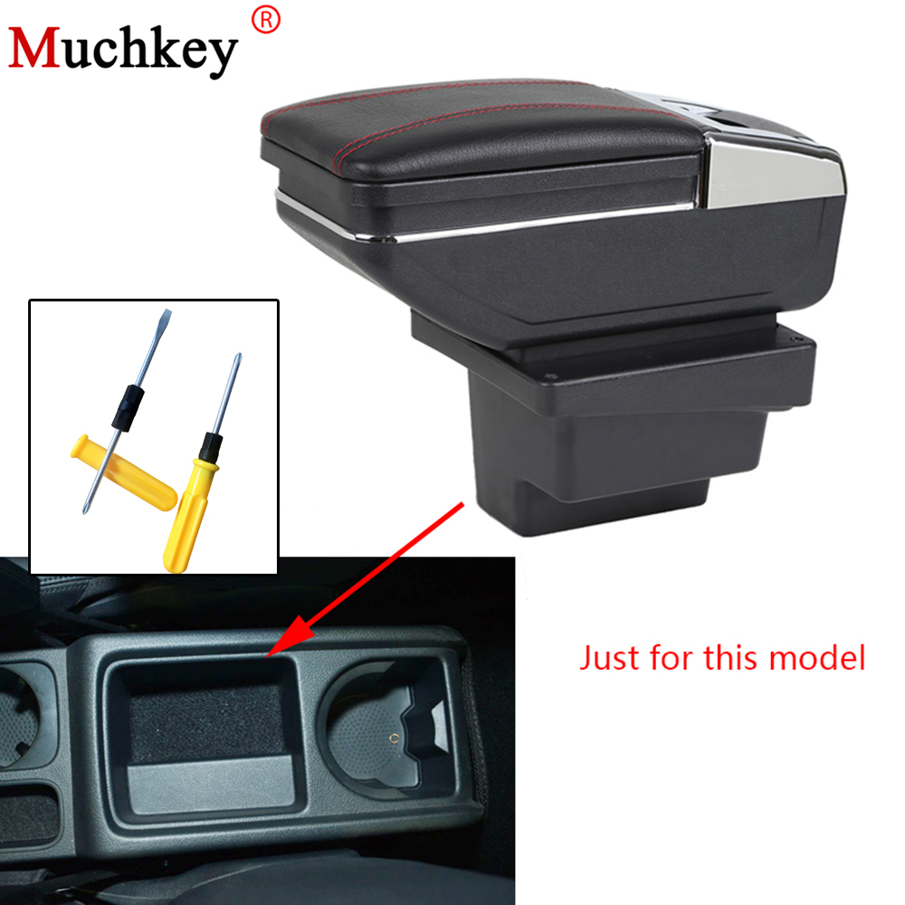 Armrest Box For VW Volkswagen Tiguan 2009-2017 Central Console Arm Rest Box Content Box Cup Holder Ashtray for volkswagen vw polo 9n 2002 2009 armrest box central store content storage box center console leather cup holder dual layer
