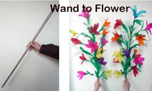 Livraison gratuite baguette en deux grappes de fleurs scène tours de magie fleur apparaissant accessoires magiques comédie partie astuce classique Magia