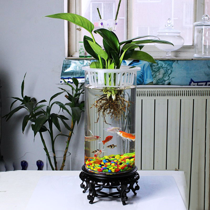 Super Platinum tank fishbowl large circular cylindrical