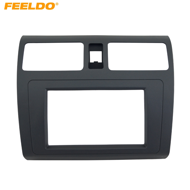 FEELDO Car DVD/CD Radio Stereo Fascia Panel Frame Adaptor Fitting Kit For SUZUKI Swift Black #HQ4396|Fascias| |  - title=