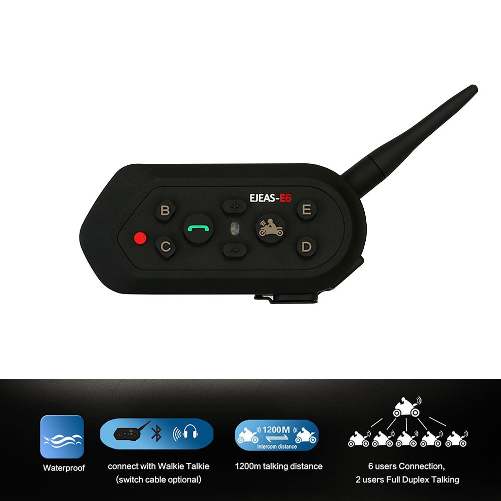 цена на Intercom Helmet Bluetooth Headset Motorcycle Communication Intercomunicador 1200M Range Motorcycle Bluetooth Interphone