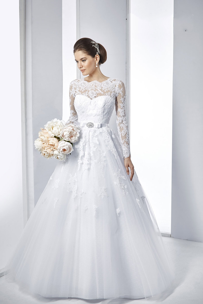 Vestido De Noiva Lace Long Sleeve Wedding Dresses A Line Vintage ...