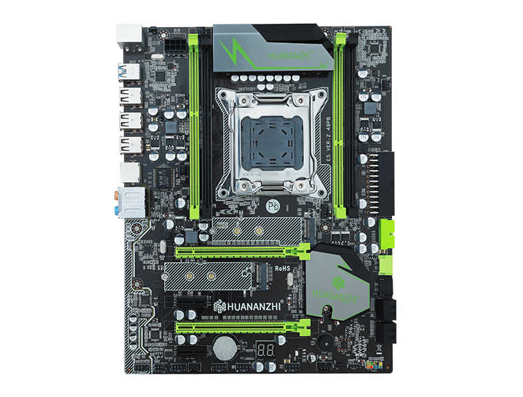 Discount motherboard set HUANANZHI X79 Pro motherboard with dual M.2 slot NVMe SSD CPU Intel Xeon E5 2640 2.5GHz RAM 16G(4*4G)