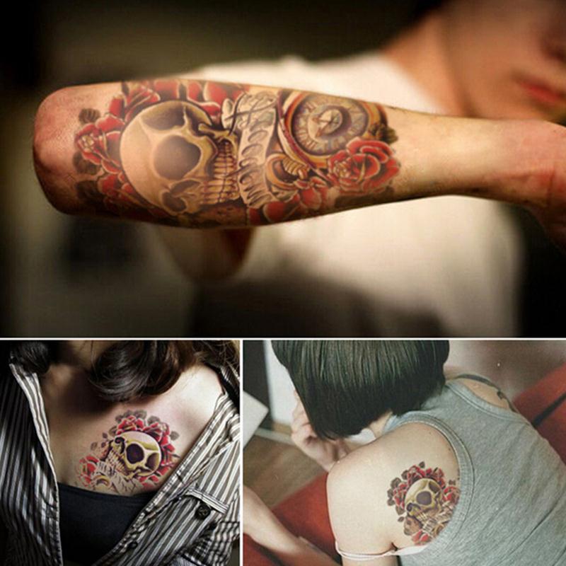 Temporäre Tattoos Einfach Kühlen Gefälschte Tattoo Elastische Sonnenschutz Wasserdichte Schulter Tattoo Sleeve Arm Sleeve Arm Strümpfe Temporäre Tatto Männer Schönheit & Gesundheit