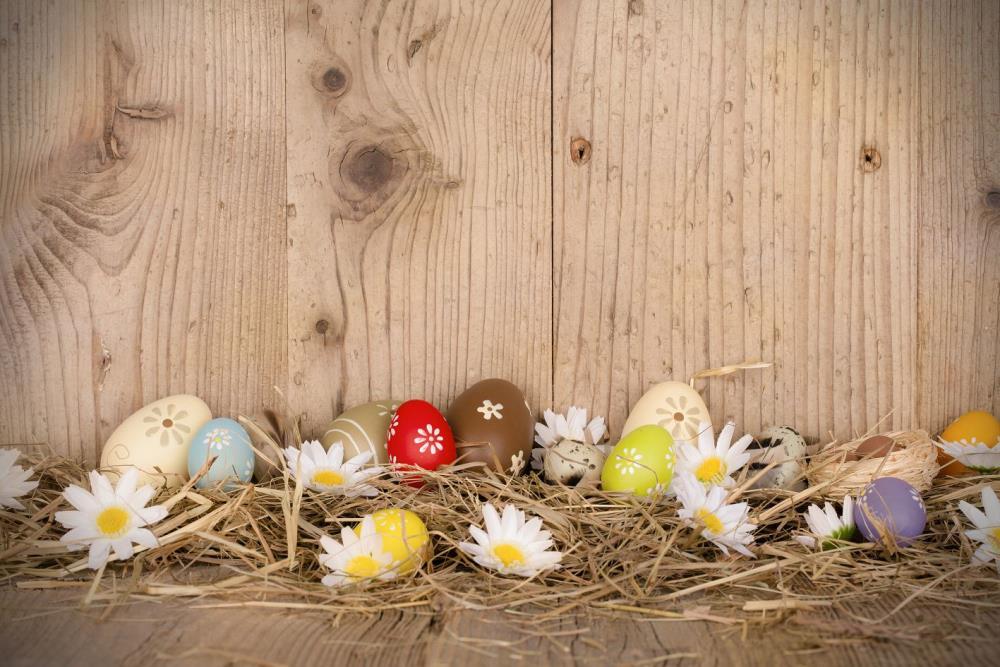 300cm*200cm Easter Day Hay wood walls eggs studio photo ...