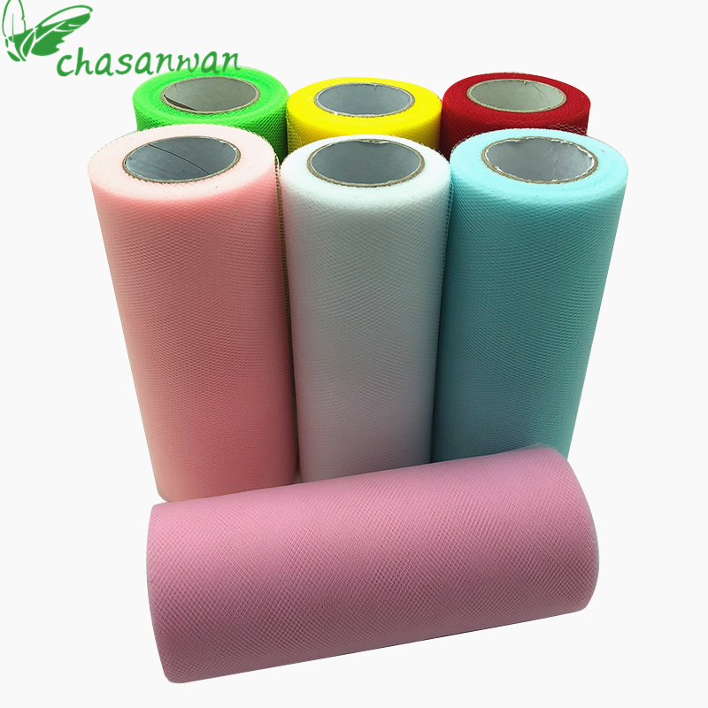 Tulle Roll 15cm 22m Roll Fabric Spool Tutu Baby Shower Party Birthday Gift Wrap Wedding Decoration Party Favors Event Supplies.L