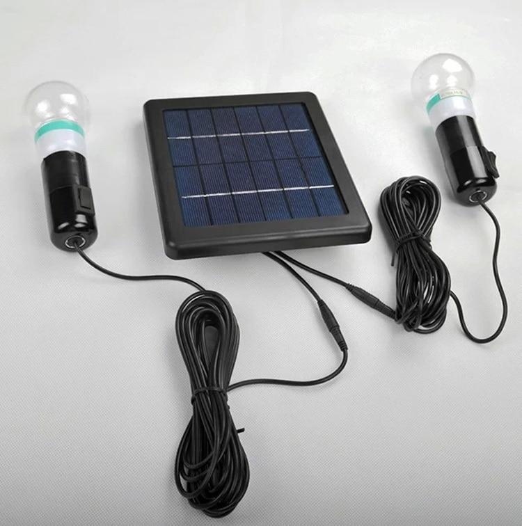 Mini Solar Light Kits Dual Bulb Solar LED Lights 3W Home