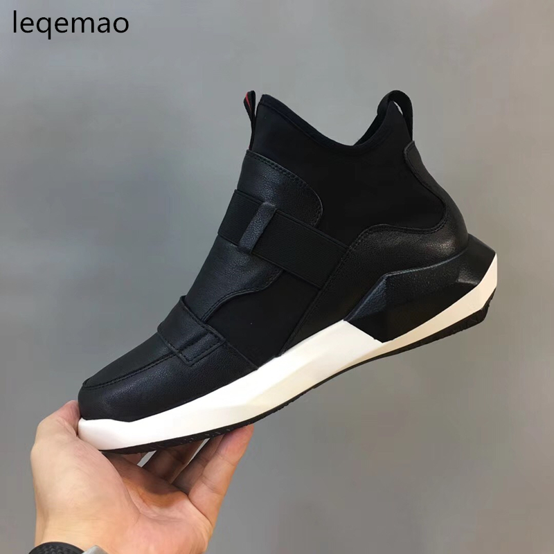 Hot Sale 2018 New Fashion Winter Warm Fur Men Basic High-Top Genuine Leather Shoes Luxury Brand Man Snow Boots Black Shoes 38-44 hot sale 2016 top quality brand shoes for men fashion casual shoes teenagers flat walking shoes high top canvas shoes zatapos