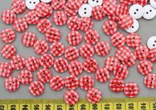 800 шт смолы чекер красные круглые пуговицы для шитья 2 отверстия