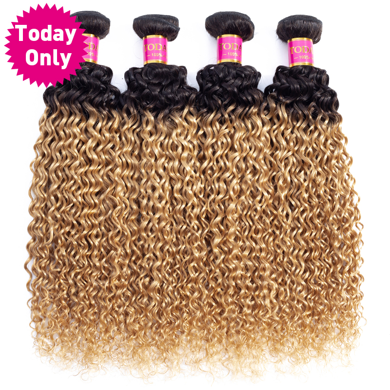 Hot Sale Today Only 1 3 4 Bundles Ombre Brazilian Hair Weave
